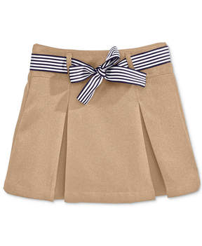 Nautica School Uniform Contrast-Ribbon Scooter Skirt, Big Girls Plus