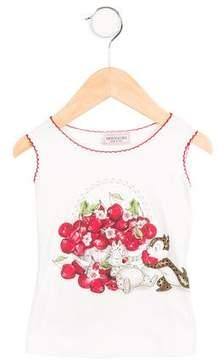 MonnaLisa Girls' Sleeveless Graphic Top