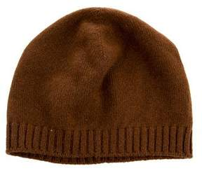 Hermes Cashmere Rib Knit-Trimmed Beanie