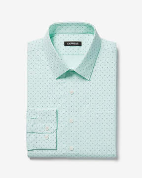 Express Slim Dotted Dress Shirt