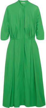 Emilia Wickstead Moya Twill Midi Dress - Bright green