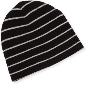 Sofia Cashmere Women's Mini Striped Cashmere Reversible Hat
