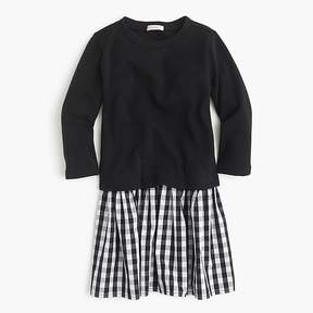 J.Crew Girls' mixed-media dress