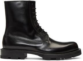 Jil Sander Black Lace-Up Boots
