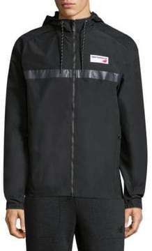 New Balance Colorblock Hooded Zip-Up Jacket