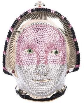 Judith Leiber Crystal-Embellished Mask Minaudiere