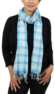 Moschino Scr27451/1 Blue Plaid Scarf.