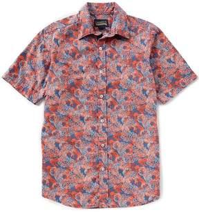 Daniel Cremieux Jeans Multi-Color Print Short-Sleeve Woven Shirt