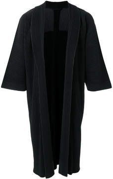 Issey Miyake Homme Plissé pleated long coat