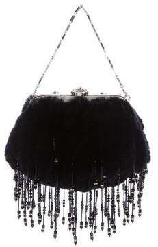 Versace Fur Evening Bag