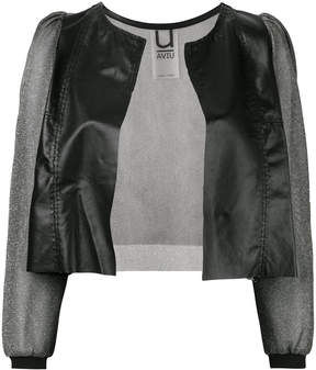 Aviu sheer sleeve cropped jacket