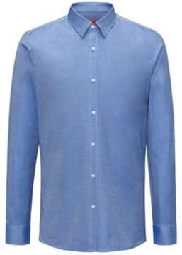 HUGO Boss Pindot Cotton Dress Shirt, Extra Slim Fit Elisha 14.5 Dark Blue