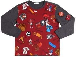 Dolce & Gabbana Sport Printed Cotton Jersey T-Shirt