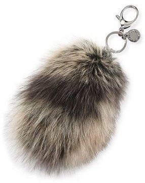 Rebecca Minkoff Fox-Fur Tail Charm for Handbag, Black/Multi - BLACK PATTERN - STYLE
