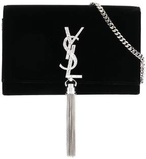 Saint Laurent Kate tassel clutch - BLACK - STYLE
