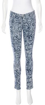 Band Of Outsiders Printed Skinny Jeans