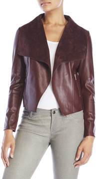 Bagatelle Faux Leather Waterfall Jacket