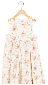 Jacadi Girls' Floral Print Sleeveless Dress