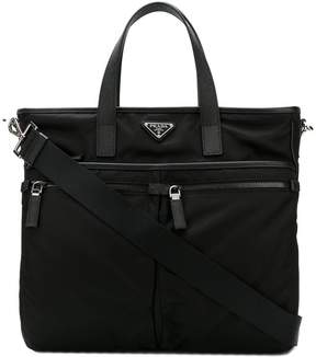 Prada double zip shopper briefcase