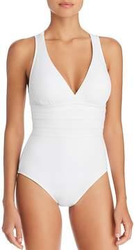 LaBlanca La Blanca Multistrap Cross Back Maillot One Piece Swimsuit