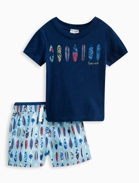 Splendid Baby Boy Surfboard Printed Short Set