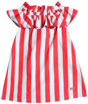Fendi Striped Cotton Poplin Dress
