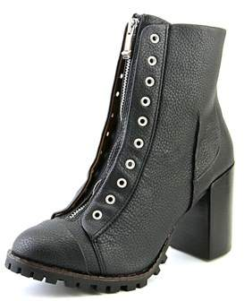 Report Signature Alexea Women Round Toe Leather Black Mid Calf Boot.