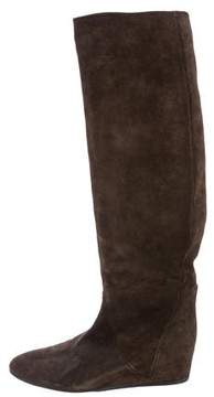 Lanvin Knee-High Suede Boots