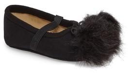 Sam Edelman Infant Girl's Felicia Faux Fur Pompom Mary Jane Flat