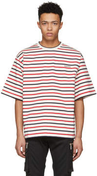 DSQUARED2 Tricolor Striped Safari T-Shirt