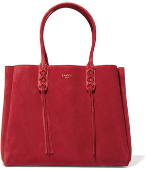 Lanvin - The Shopper Suede Tote - Red