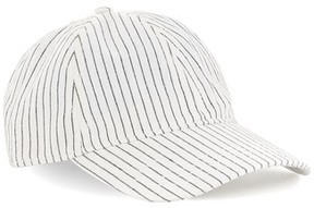Topman Men's Stripe Boys Curved Peak Cap - White