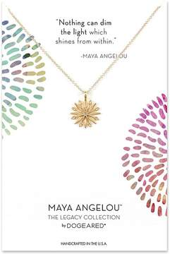 Dogeared Nothing Can Dim The Light... Star/Starburst w/ Crystal Charm Necklace Necklace