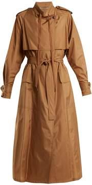 Bottega Veneta Tie-waist silk-blend taffeta trench coat