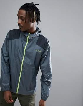 Columbia Flashback Hooded Windbreaker Jacket Lightweight in Dark Gray