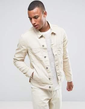 Esprit White Denim Jacket with Distressed Details