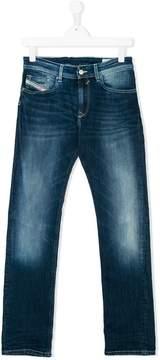 Diesel Teen light-wash stretch jeans