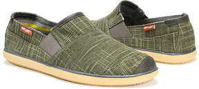 Muk Luks Dark Green Jose Linen Slip-On Loafer - Men