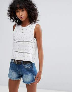 d.RA Selma Cropped Blouse