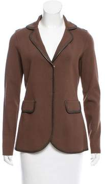 Bruno Manetti Knit Notch-Lapel Jacket