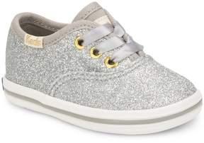 Keds for kate spade new york Girls' Glitter Crib Shoe Sneakers