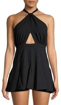 6 Shore Road Halter Cut-Out Mini Dress