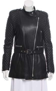 Barbara Bui Belted Zip-Up Jacket