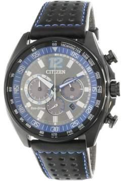 Citizen Men's Eco-Drive CA4199-17H Black Leather Japanese Quartz Fashion Watch