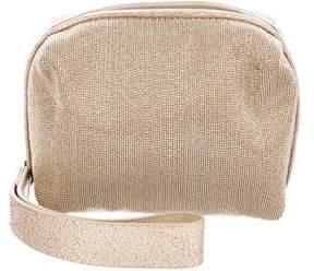 Brunello Cucinelli Leather Monili-Trimmed Wristlet