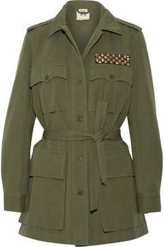 Figue Safari Embellished Cotton And Linen-Blend Twill Jacket