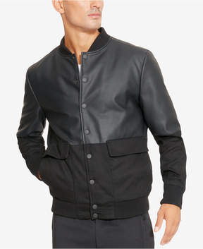 Kenneth Cole Reaction Men's Faux-Leather Bomber Jacket