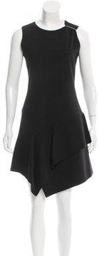 Alaia Fleece Wool Ruffle-Trimmed Dress w/ Tags