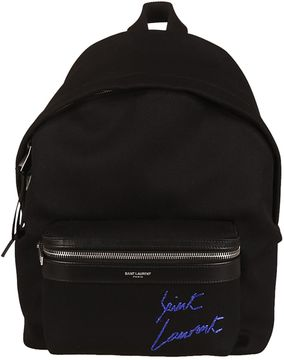 Saint Laurent Mini City Embroidered Backpack - NERO - STYLE