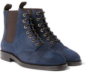 Jimmy Choo Jules Waxed-Suede Boots